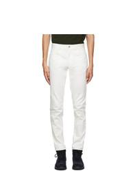 Moncler White Logo Pocket Jeans