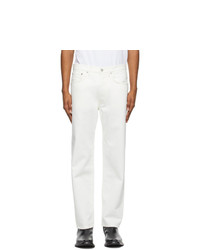 Acne Studios White Straight Fit Jeans