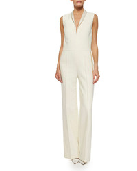 ADAM by Adam Lippes Adam Lippes Shawl Collar Chain Trimmed Jumpsuit