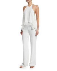 Elizabeth and James Baldwin Halter Neck Jumpsuit Ivory