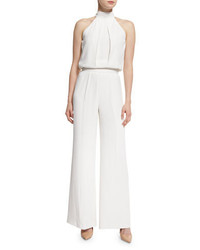Alexis Sang Sleeveless Draped Jumpsuit White