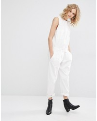 Mango Tailored Belted Jumpsuit