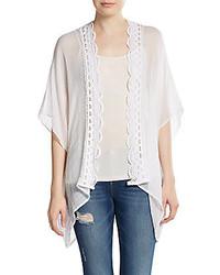 BCBGeneration Lace Trimmed Kimono Jacket