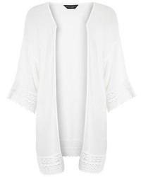 Dorothy Perkins Ivory Crinkle Longline Kimono