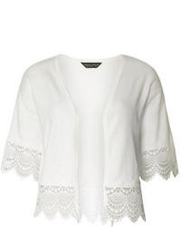 Dorothy Perkins Ivory Lace Trim Kimono