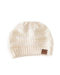 Cc Ivory Knit Beanie