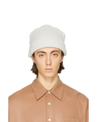 Our Legacy Off White Knitted Beanie