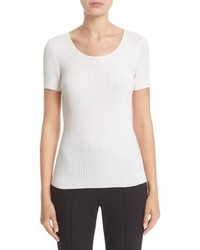 St. John Sport Collection Isla Rib Knit Top