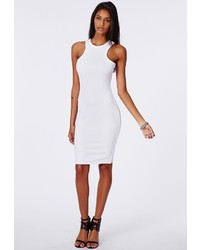 White Knit Bodycon Dress