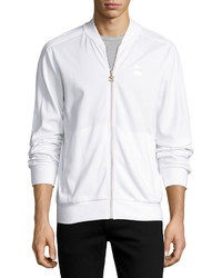 Puma Knit Bomber Jacket White