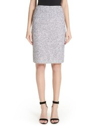 St. John Collection Olivia Boucle Knit Skirt