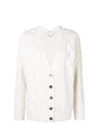 3.1 Phillip Lim Cable Knit V Neck Cardigan