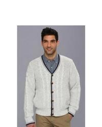 Nautica Maritime Cable Cardigan Sweater Isle Grey Heather
