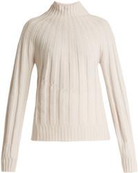 Bottega Veneta Roll Neck Ribbed Knit Cashmere Sweater