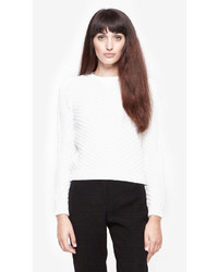 Carven Diagnol Knit Cable Sweater
