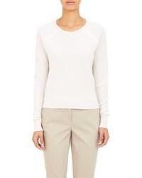 ATM Anthony Thomas Melillo Honeycomb Cropped Sweater White Siz
