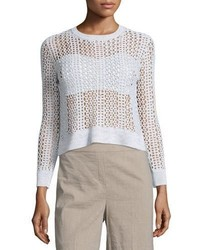Krezia b iras crocheted knit cropped sweater medium 3778164