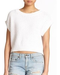 Rag and Bone Rag Bonejean Addie Cropped Knit Pullover