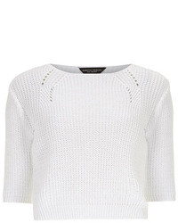 Dorothy Perkins White Crop Knit