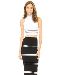 Dion Lee Line Ii Sports Knit Crop Top
