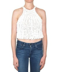 Pima Doll Hand Knit Crop Tank