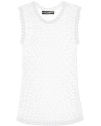 Dolce & Gabbana Lace Knit Tank Top