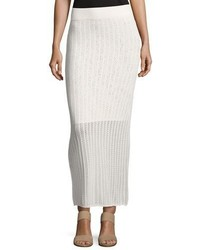 A.L.C. Suvi Ribbed Knit Maxi Skirt Offwhite