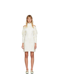 Proenza Schouler Off White Jacquard Knit Short Dress
