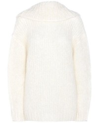 Tom Ford Mohair And Wool Blend Off The Shoulder Sweater