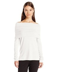 Vince Relaxed Off The Shoulder Pullover