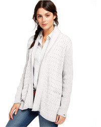 Tommy Hilfiger Cable Knit Open Front Cardigan
