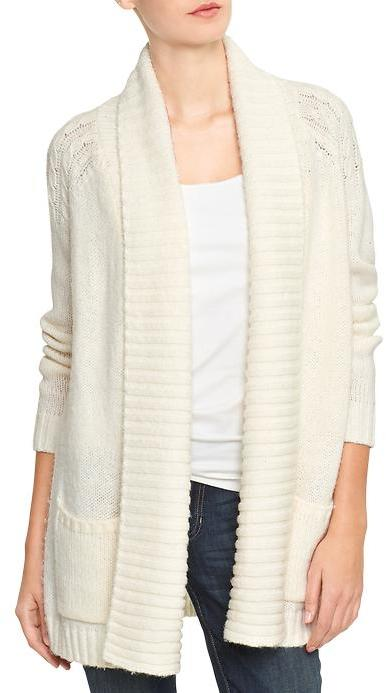 Gap Factory Cable Knit Open Front Shawl Cardigan | Where to buy ...