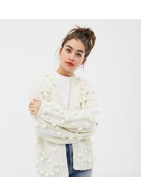 Oneon Hand Knitted Pom Pom Cardigan