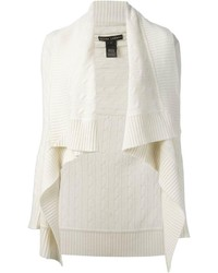 Ralph Lauren Black Ruffled Asymmetric Cardigan