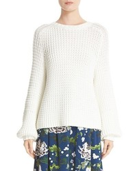 Adam lippes cotton blend knit sweater medium 1210592