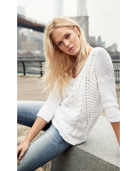 658b61009f4 Women's White Oversized Sweaters by Express | Women's Fashion ...