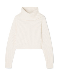 3.1 Phillip Lim Cropped Ribbed Wool Blend Turtleneck Sweater
