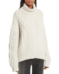Everly rib knit cashmere sweater medium 4423664