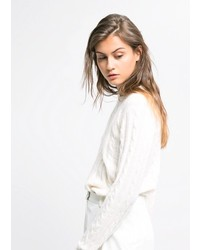 Mango Cable Knit Alpaca Blend Sweater