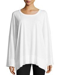 Michael Kors Michl Kors Oversized Cotton Long Sleeve Top White