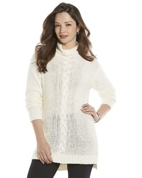 Chaps Petite Cable Knit Tunic Sweater