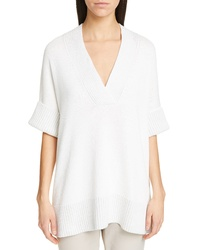 Lafayette 148 New York Vanise Relaxed V Neck Sweater