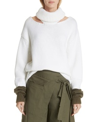 Monse Wool Double Cuff Cutout Sweater