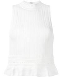 3.1 Phillip Lim Sleeveless Knitted Peplum Top