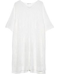 White Knit Poncho
