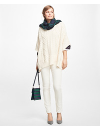 Brooks Brothers Aran Knit Poncho