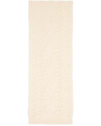 Maison Margiela Off White Wool Scarf
