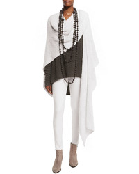 Urban Zen Knit Cashmeresilk Cloud Wrap White Smoke