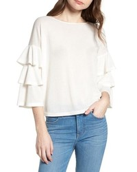 BISHOP AND YOUNG Bishop Young Katie Tiered Ruffle Sleeve Top
