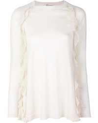 RED Valentino Frilled Knitted Blouse